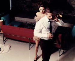 Брэд Питт и Анджелина Джоли в фотосессии 2005-го года