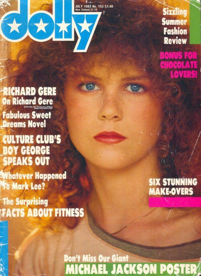 Николь Кидман в 16 лет (фотосет в журнале Dolly Magazine)