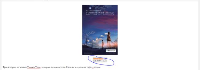 Как вставить рейтинг Кинопоиска к себе на сайт