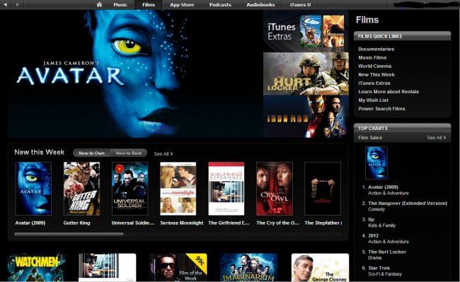 График выхода фильмов в iTunes