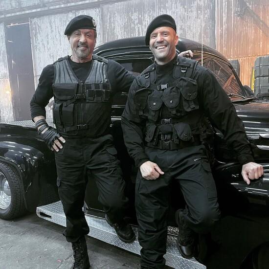 Джейсон Стэйтем и Сильвестр Сталлоне на съёмках «Неудержимых 4» (фото)